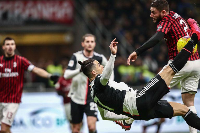La Juve recibe al Milan por la Copa Italia en el regreso oficial del fútbol italiano tras la cuarentena por coronavirus