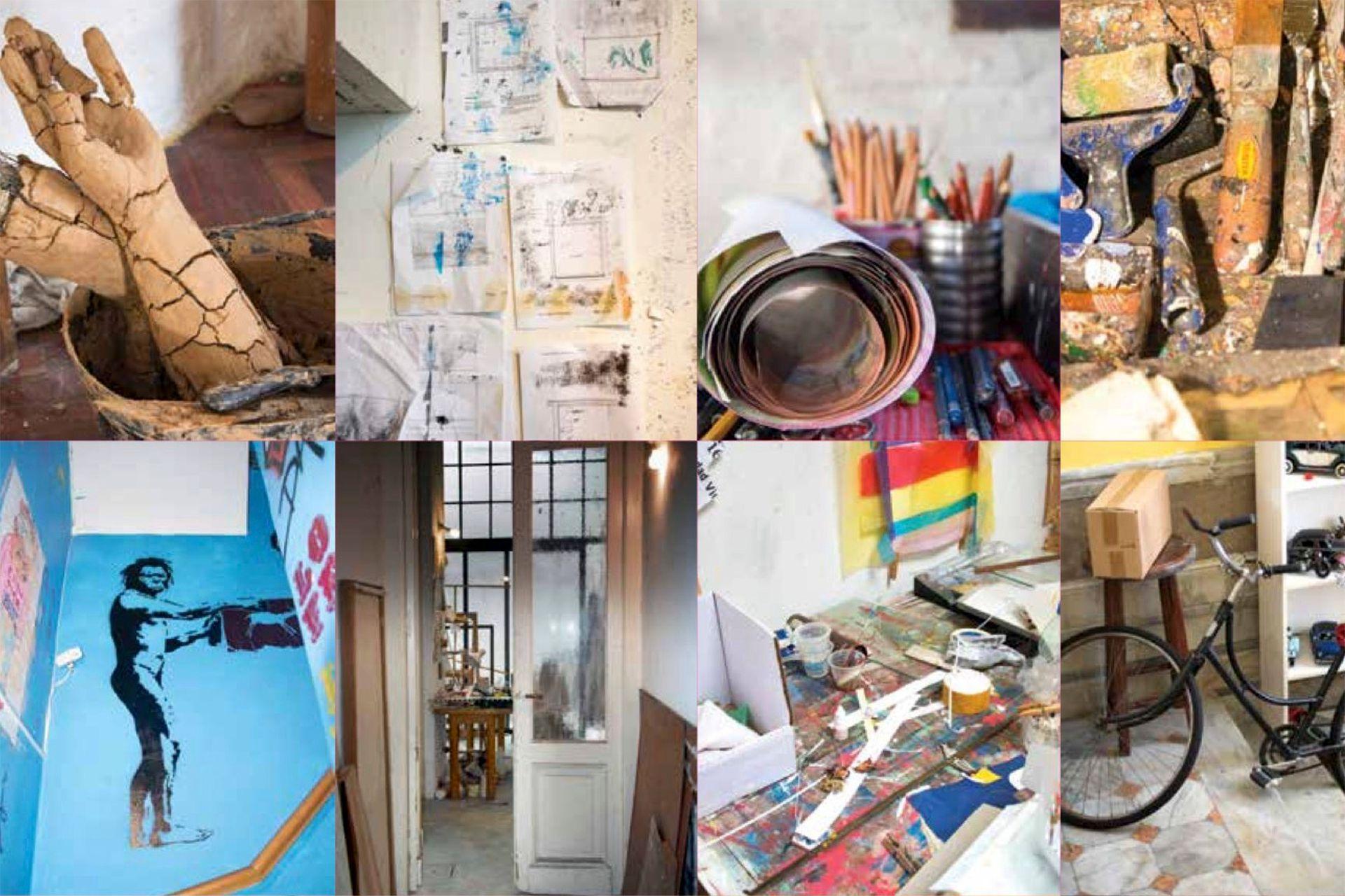 Detalle interior del libro Casa de artistas