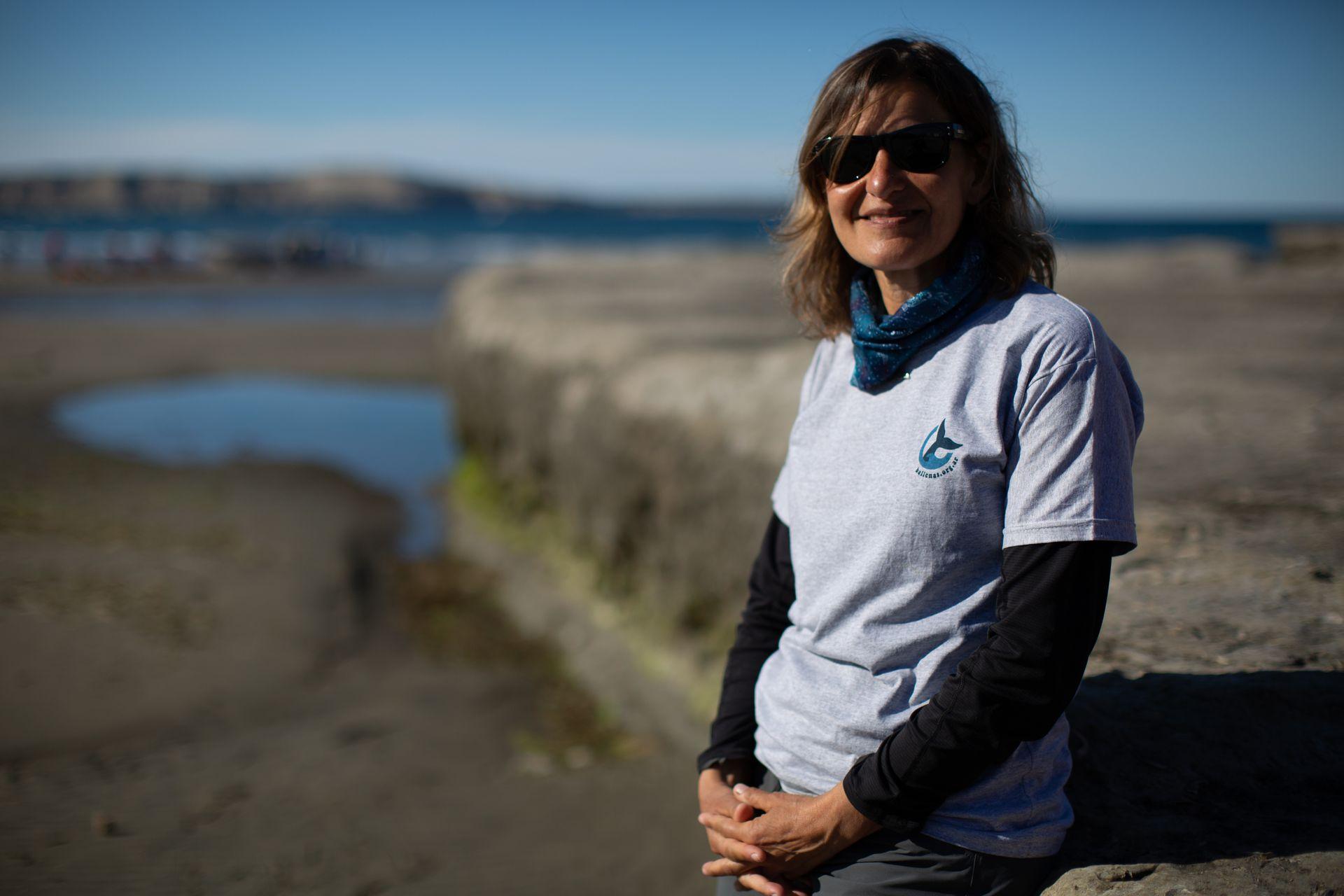 Roxana Schteinbarg, una de las fundadoras del Instituto de Conservación de Ballenas, coordina los programas de preservación