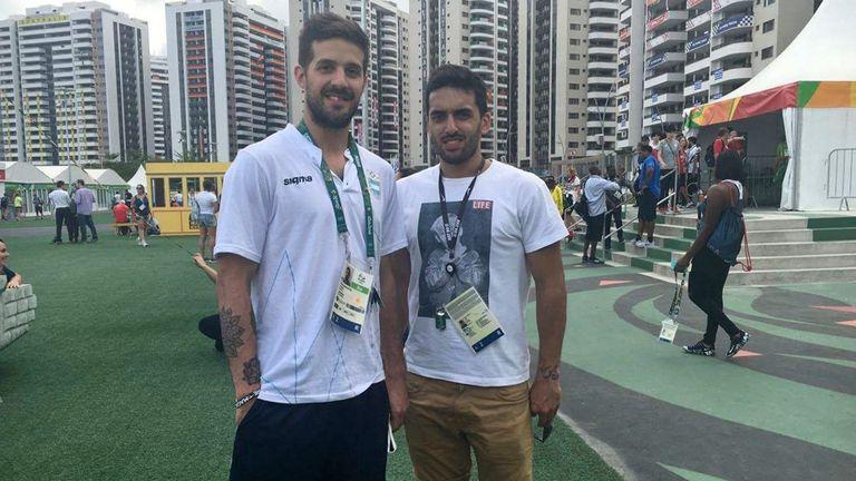 Nicolás y Facundo en la Villa Olímpica tras la experiencia en Río