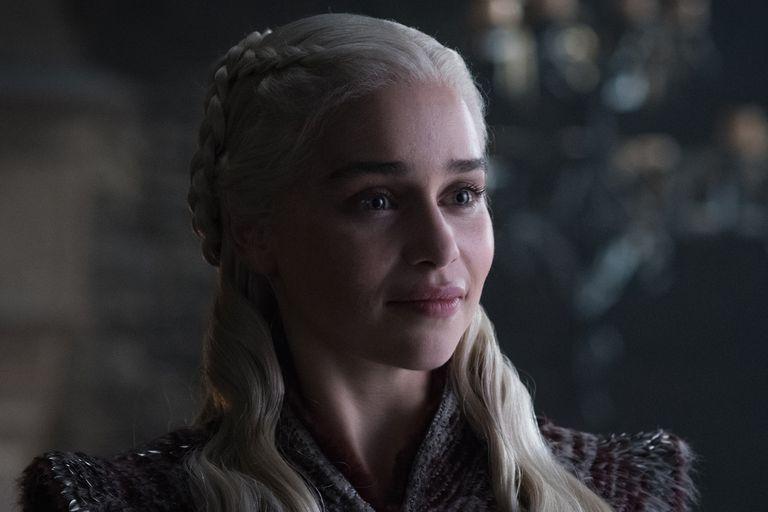 Emilia Clarke como Daenerys Targaryen en la octava y última temporada de Game of Thrones