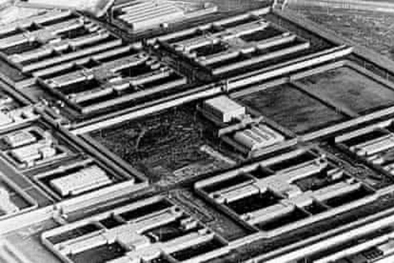 La prisión de Maze, el laberinto, tenía sus módulos dispuestos en forma de H