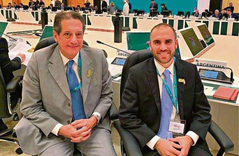 Miguel Ángel Pesce, presidente del Banco Central, y Martín Guzmán, ministro de Economía