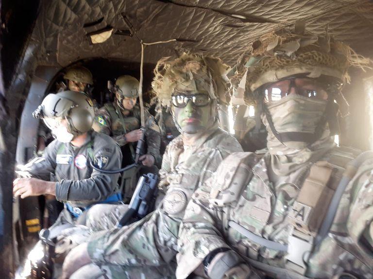 Efectivos militares participaron en noviembre de 2020 en la operación Arandú, con sus pares de Brasil