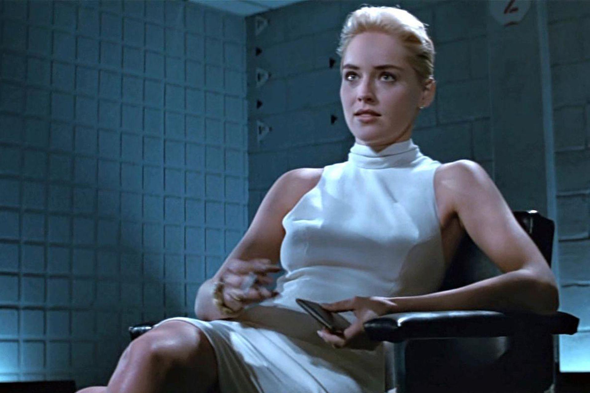 Sharon Stone en Bajos instintos, de Paul Verhoeven