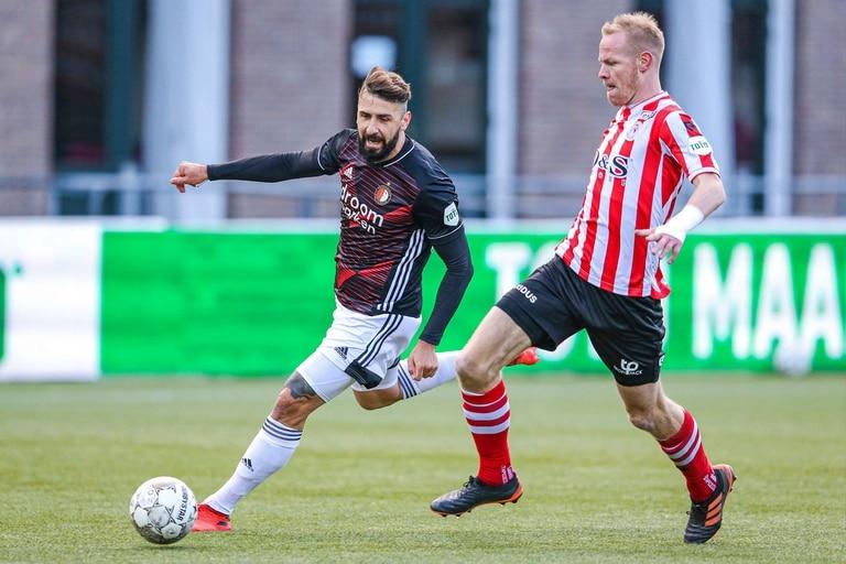 El delantero argentino del Feyenoord Rotterdam Lucas Pratto frente al Sparta Rotterdam Luxumbourg.