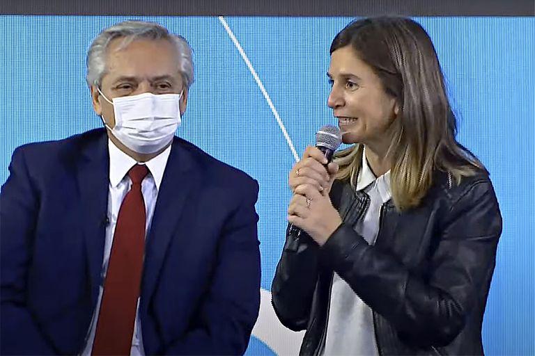Fernanda Raverta habló hoy en Lomas de Zamora, en un acto encabezado por el presidente Alberto Fernández