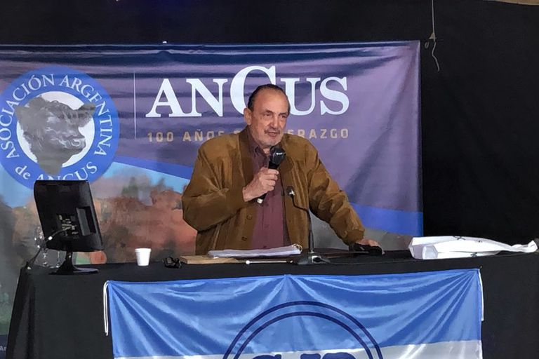 Alfredo Gusmán, presidente de Angus en la subasta