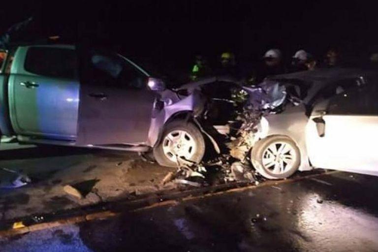 La colisión fue en el kilometro 386 de la Ruta Provincial 11