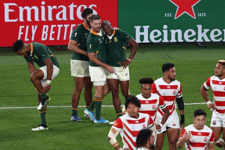 Mundial de rugby: Sudáfrica terminó con el sueño de Japón y está en semifinales