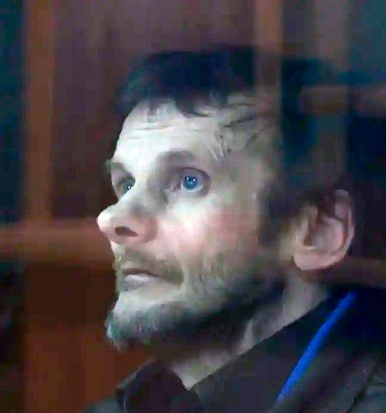El Caníbal de Arkhangelsk durante el juicio que lo encarceló de por vida