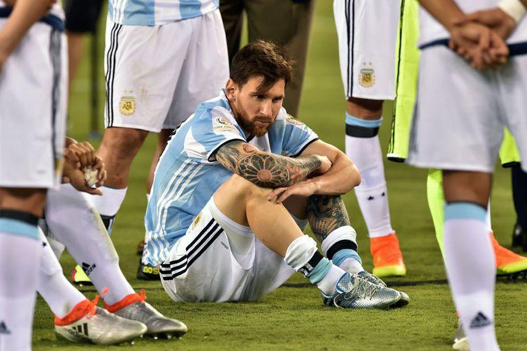 Messi llora después de la final