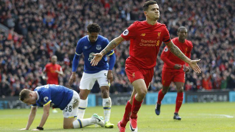 Coutinho marcó un golazo ante Everton