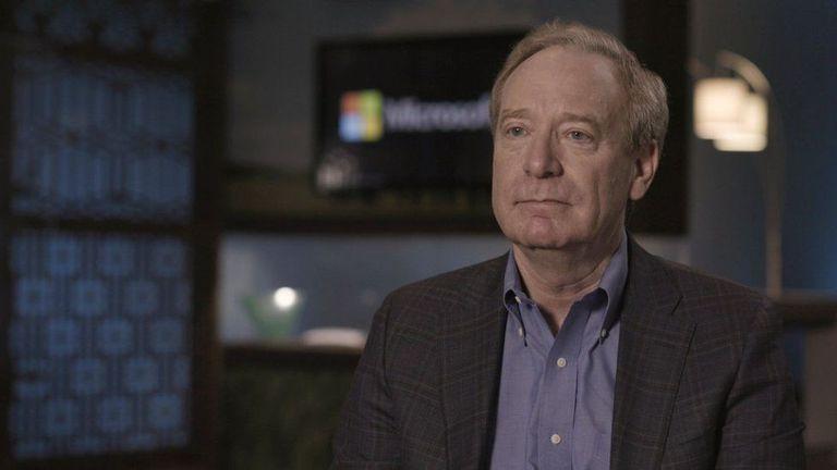 El presidente de Microsoft, Brad Smith, hizo estos comentarios en el programa Panorama de la BBC