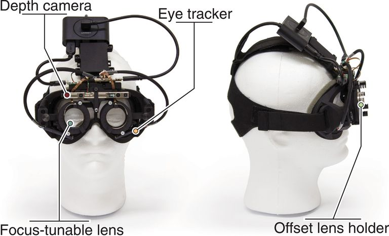 El prototipo del sistema; el desafío ahora es reducir el tamaño de los componentes hasta lograr que entren en un par de anteojos comunes