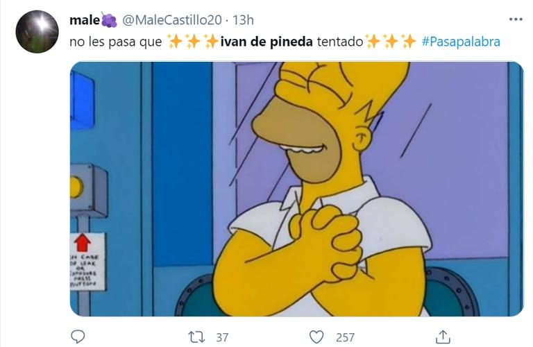 Iván de Pineda se tentó al aire de Pasapalabra y enamoró a los usuarios en Twitter.