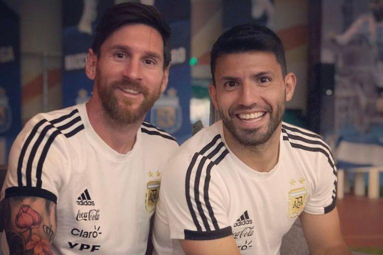El Kun Agüero saludó a Messi a través de las redes sociales
