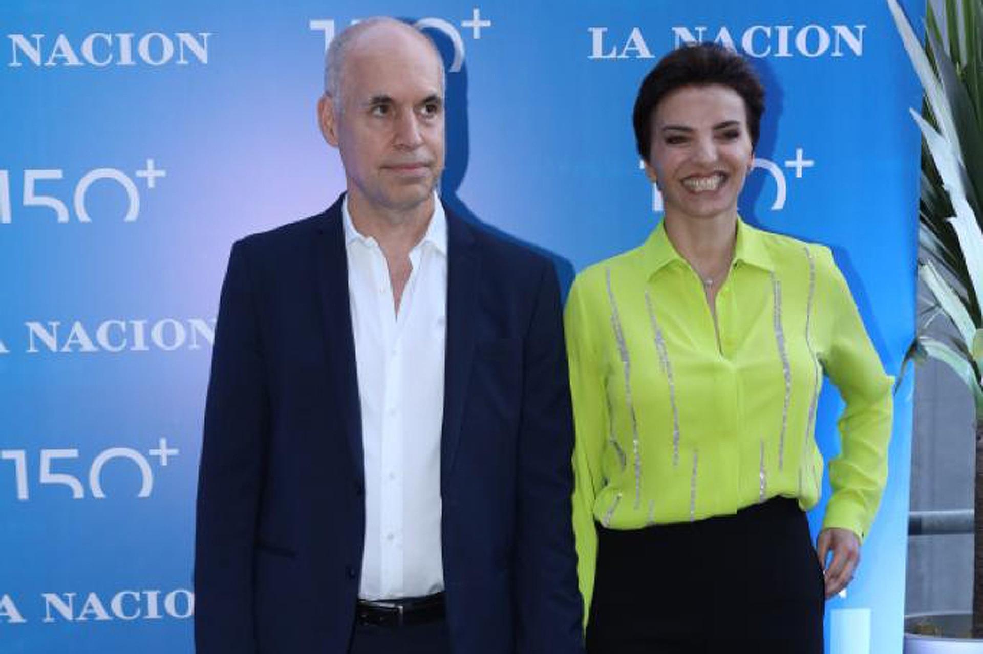 El jefe de Gobierno porteño, Horacio Rodríguez Larreta, junto a su mujer, la wedding planner Bárbara Diez