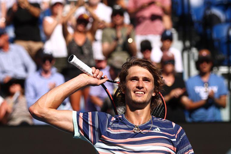 Alexander Zverev y la alegría por su pasaje a las semifinales de Australia tras superar a Wawrinka