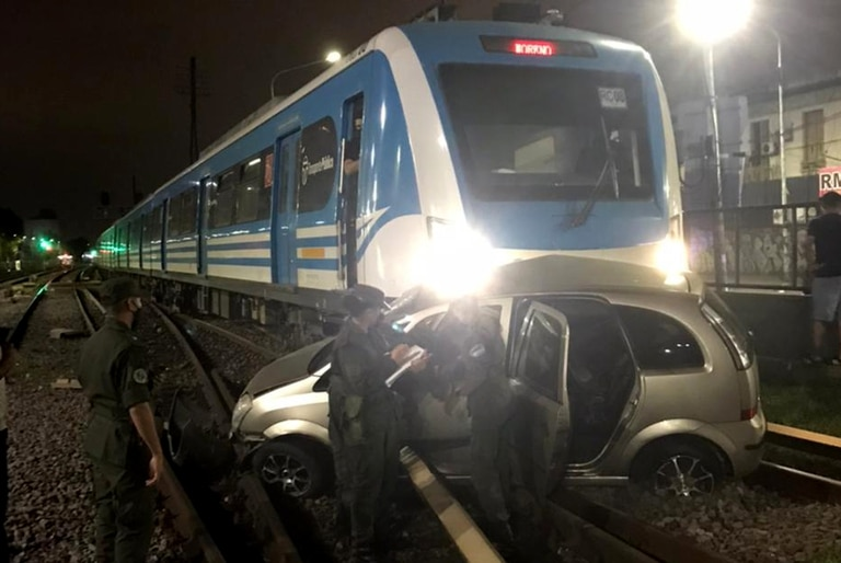 Accidente de tren en Ramos Mejía. Foto Trenes ARgentinos