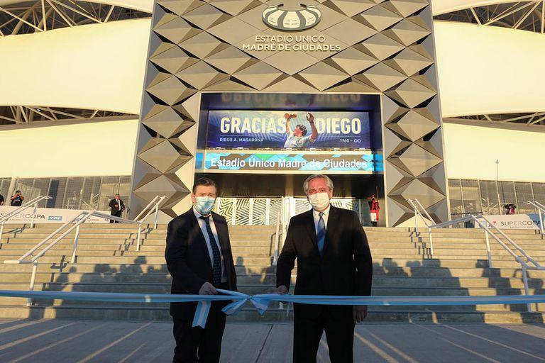 El presidente Alberto Fernández en Santiago del Estero junto al gobernador Gerardo Zamora