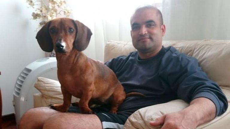 Javier Galván, pareja de Ivana Módica, desaparecida en La Falda, Córdoba, desde el 12 de febrero