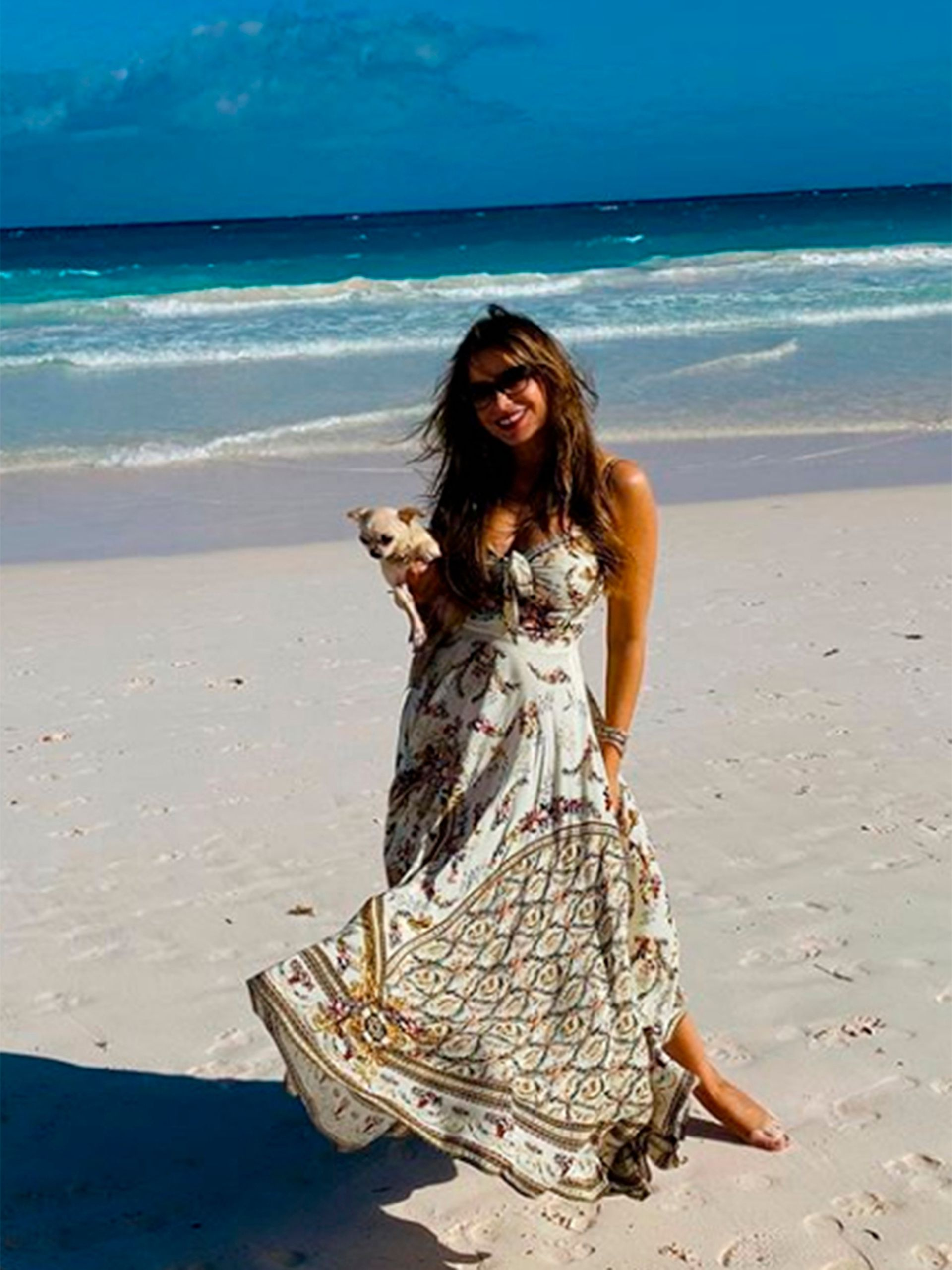 Vida de playa: acompañada por su esposo, el también actor Joe Manganiello, Sofía Vergara está instalada desde hace varios días en una isla privada, en el Pacífico sur