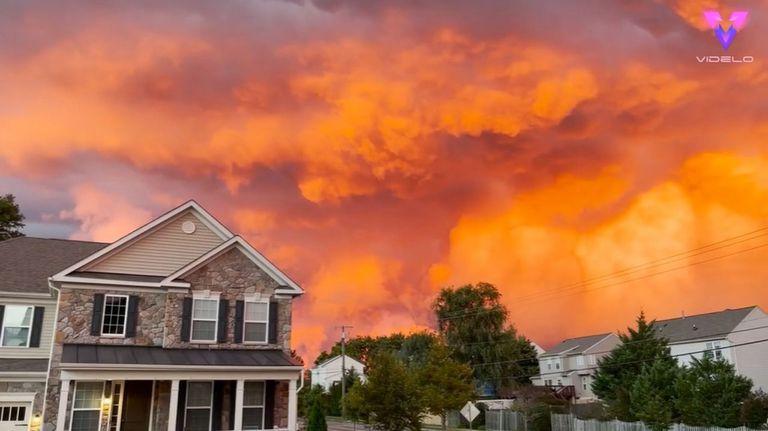 El cielo de Maryland regaló un espectáculo de colores y luces a sus habitantes
