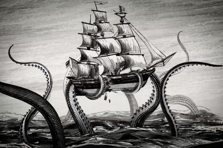 Un estudio reciente realizado en la profundidad del Golfo de México recuerda a los relatos de marineros del siglo XIX acerca de un calamar gigante que podía hundir un barco