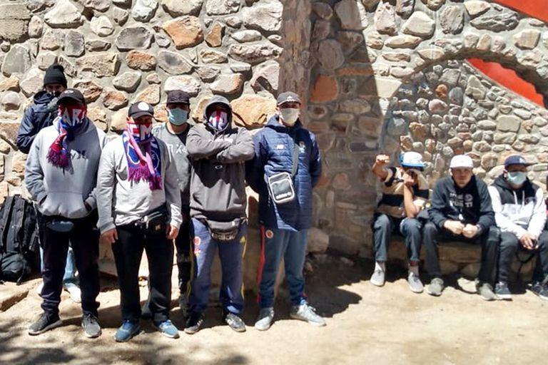 Los hinchas del DIM, durante su estancia en La Quiaca