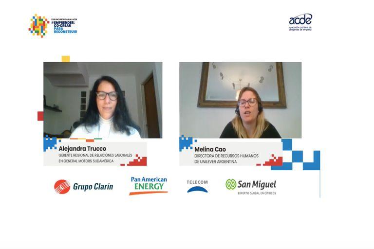 """Alejandra Trucco, gerente regional de Relaciones Laborales en General Motors Sudamérica, y Melina Cao, directora de Recursos Humanos de Unilever Argentina, contaron cómo las empresas """"intercambiaron"""" trabajadores"""
