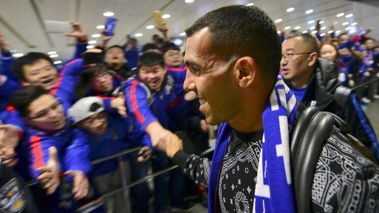 Carlos Tevez y sus fanáticos chinos
