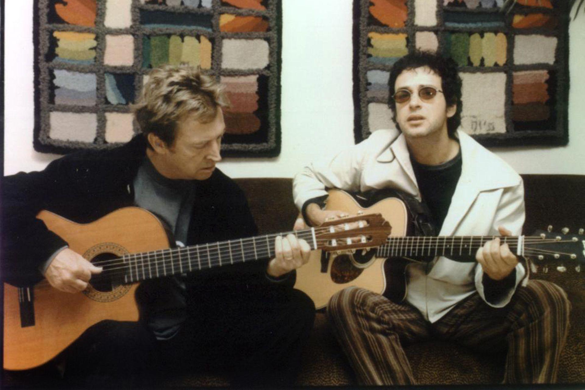 Gustavo Cerati con Andy Summers, de The Police