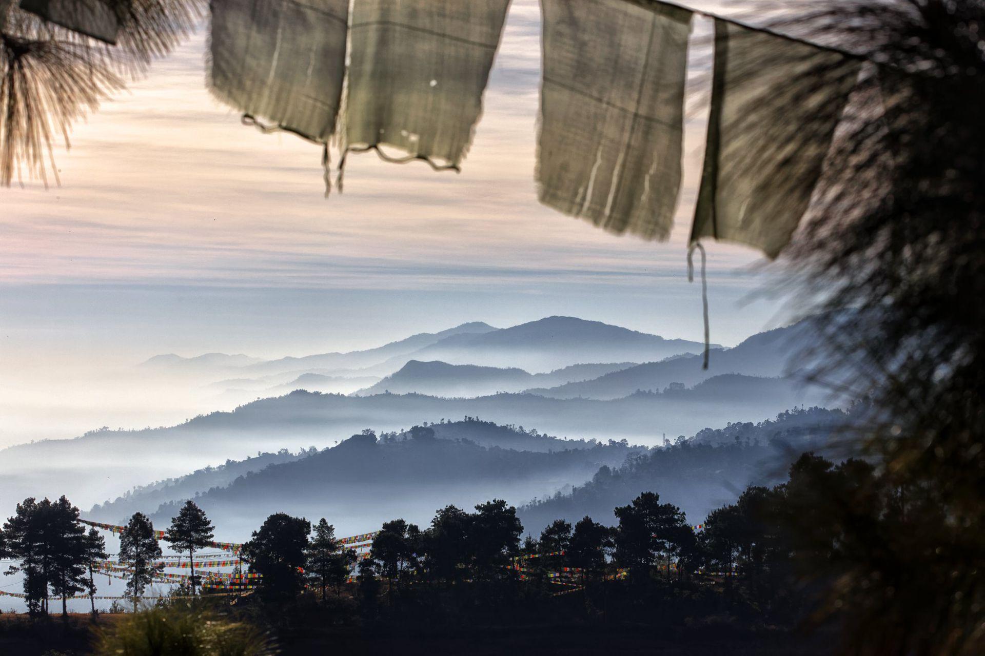 Colinas al amanecer, Namo Buddha, Nepal