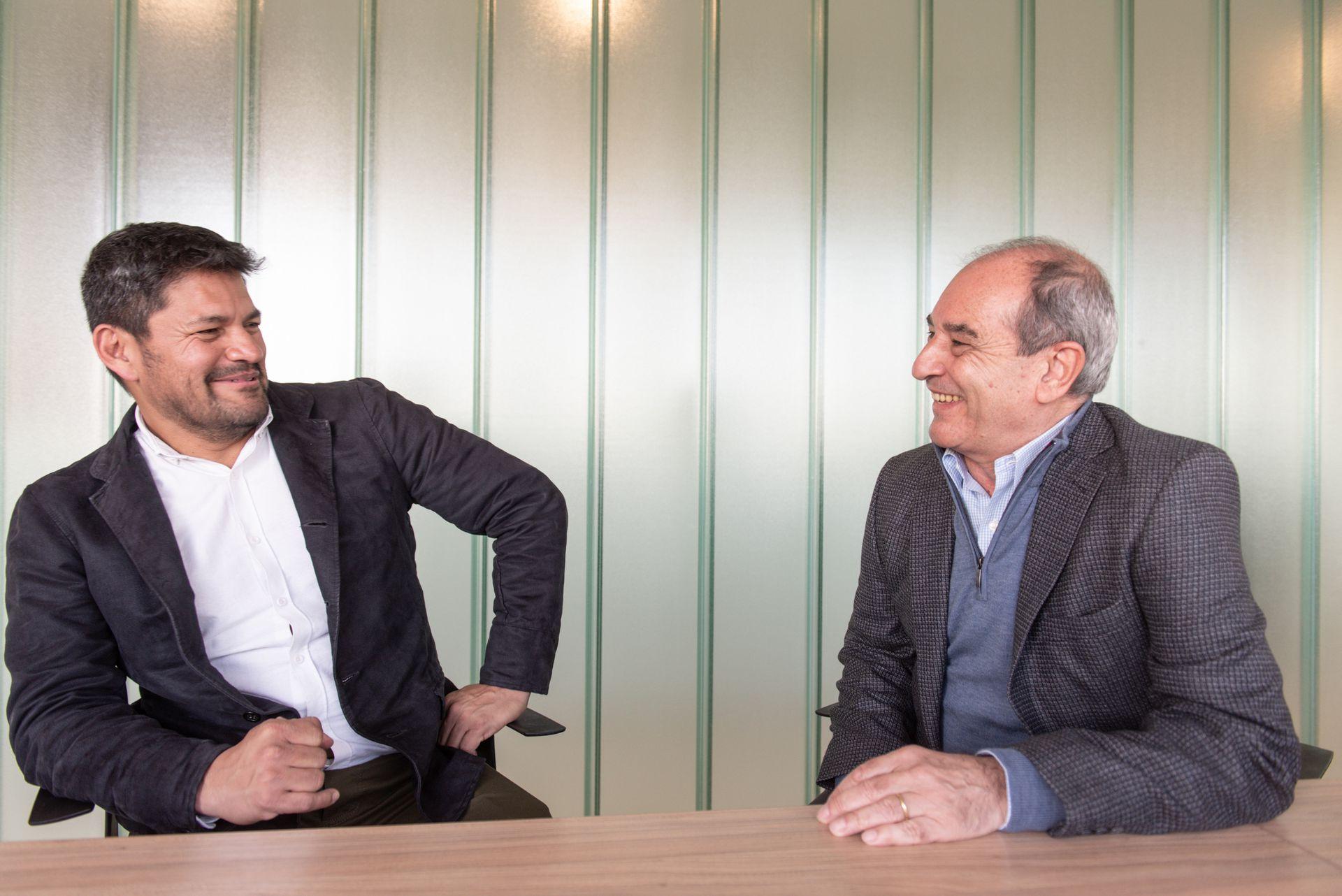 Jorge Luis Borge y Miguel Ángel López, conversan con LA NACION