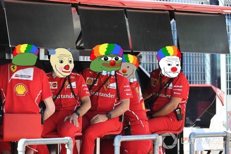 """Fórmula 1: los """"payasos"""" de Ferrari tras la peor clasificación en la temporada"""