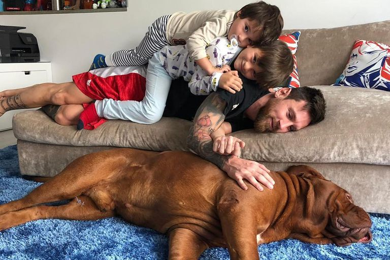 Lionel Messi, Antonela Roccuzzo y sus tres hijos volvieron momentáneamente a su casa en Barcelona y se reunieron con sus mascotas