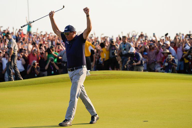 Phil Mickelson vencedor en el PGA Championship, en Kiawah Island, South Carolina