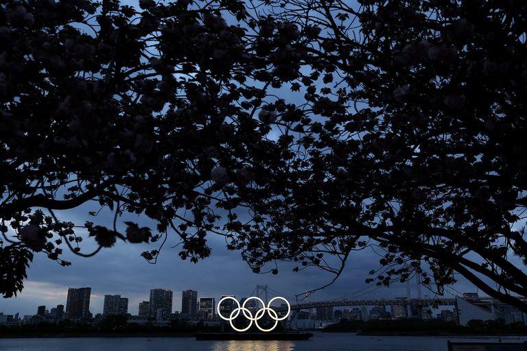 Los aros olímpicos de Odaiba, en Tokio.