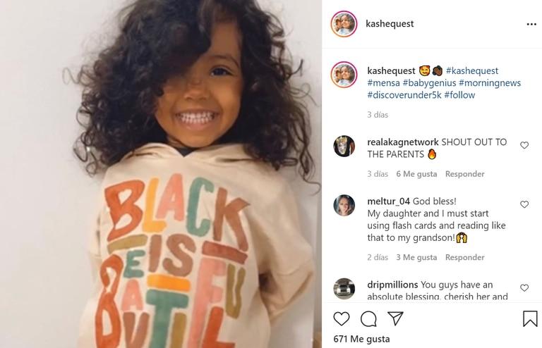 Los padres de Kashe le crearon una cuenta de Instagram, donde recibe gran apoyo luego de que se diera a conocer su extraordinario caso