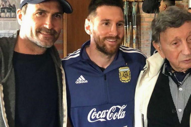 Adolfito Cambiaso, Leo Messi y Luis Landriscina, en una jornada muy especial