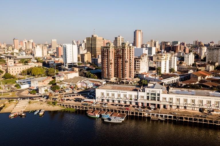 Una vista de la ciudad de Asunción