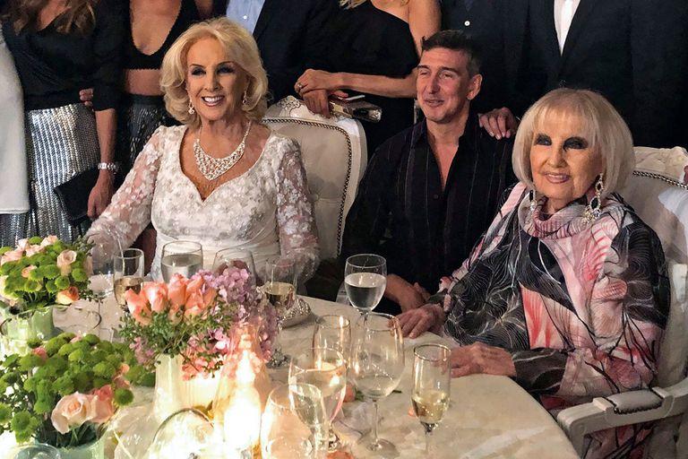 Junto a Mirtha y Julio Bocca, en su cumpleaños número 91