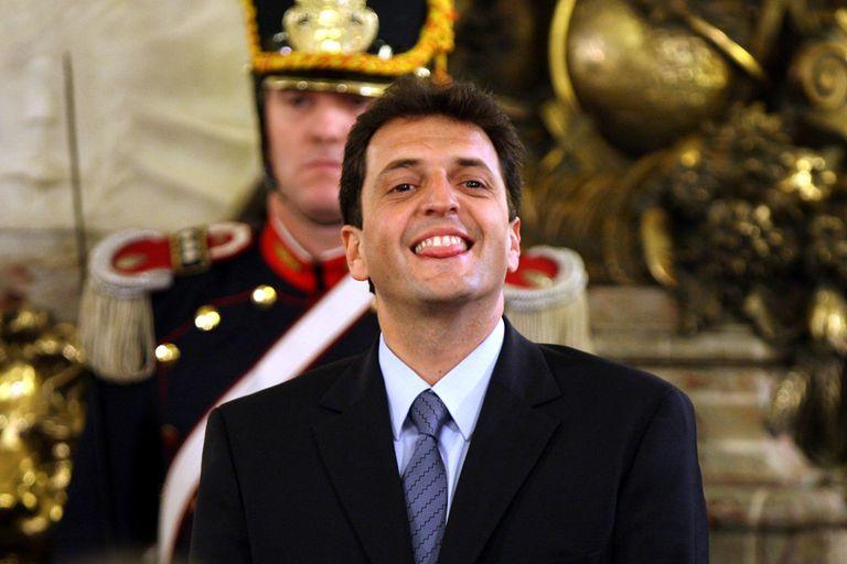 Durante la jura como jefe de Gabinete en 2008