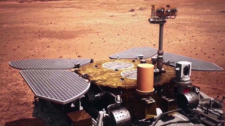 El explorador Zhurong luce similar a los vehículos de la NASA Spirit y Oppportunity