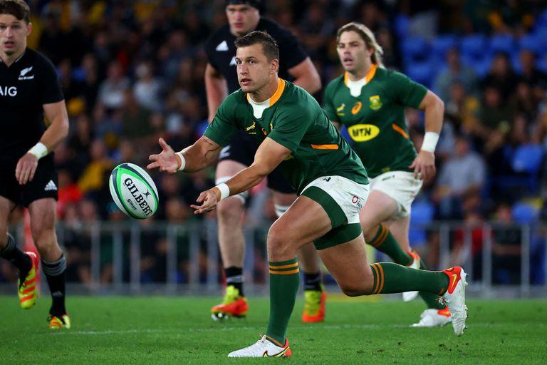 Handre Pollard, uno de los jugadores destacados en el triunfo de Sudáfrica ante los All Blacks por el Rugby Championship