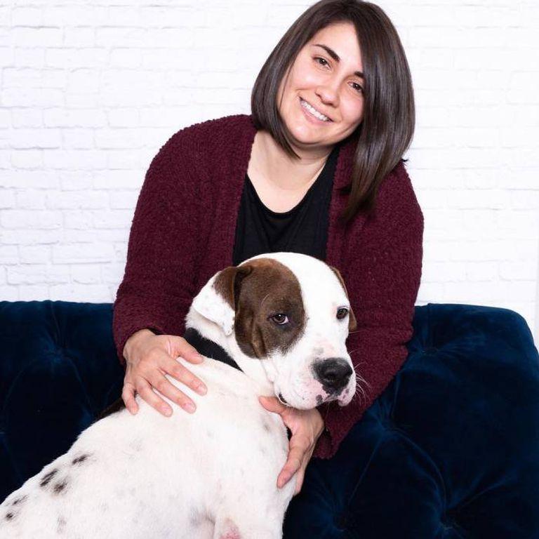 Samantha Zimmer y Boomer, que ya se adaptó a la vida hogareña