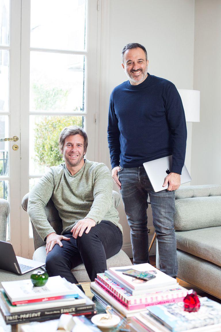Gonzalo Agüero y Damián Schuchner, de Stream In, que se lanzó en julio último