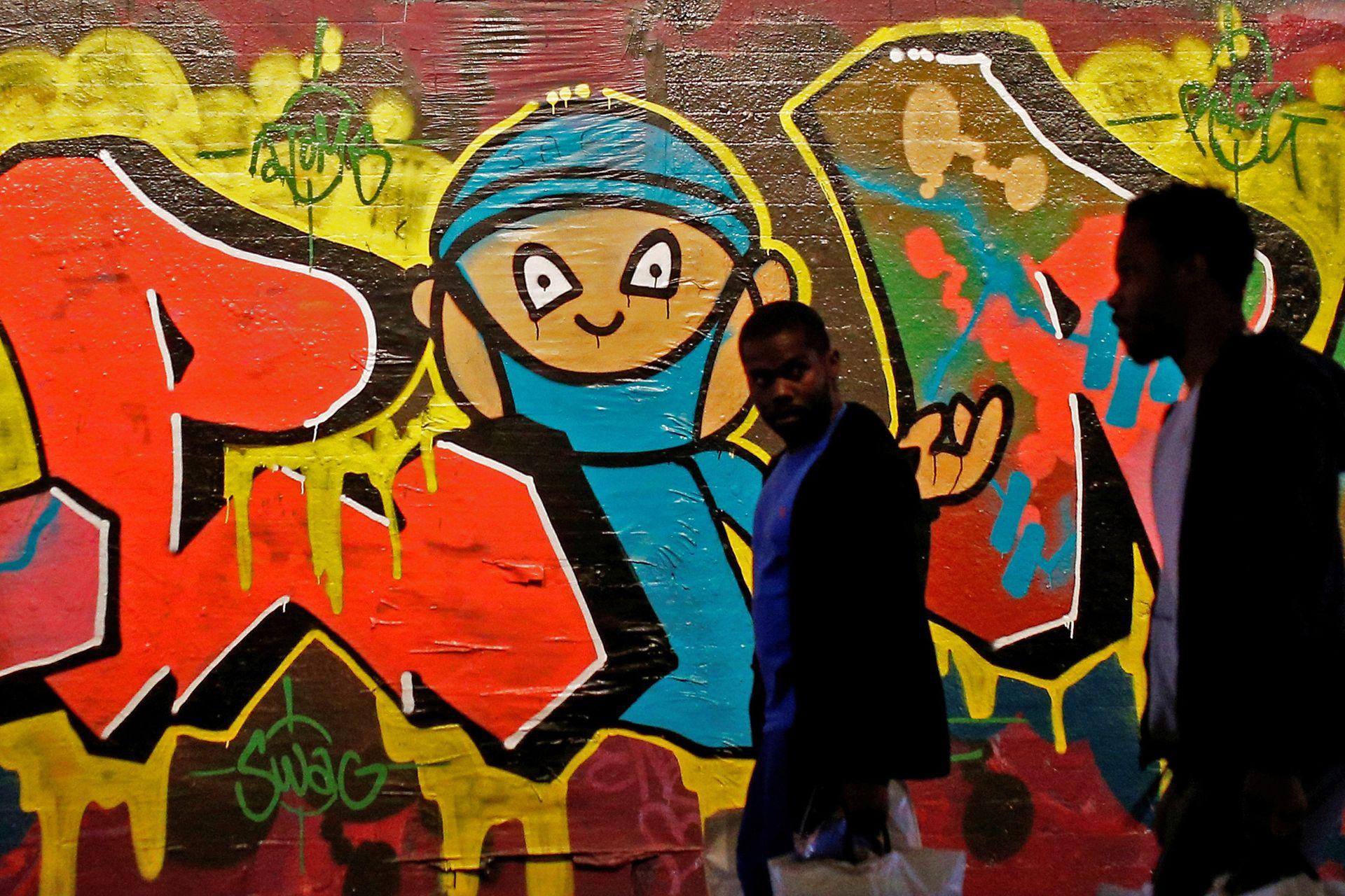 Graffiti en el centro de Londres, Inglaterra