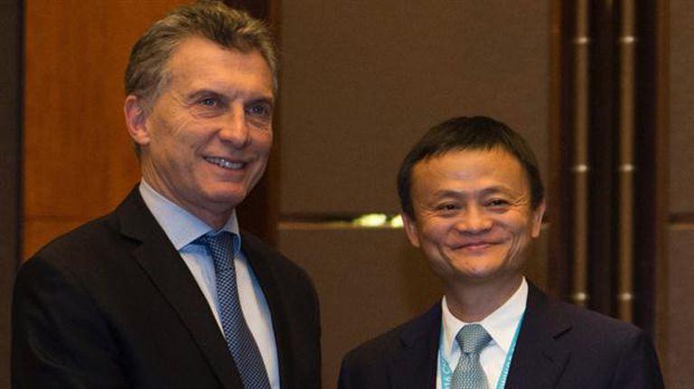 Macri y Jack Ma, dueño de Alibaba, en su primer reunión